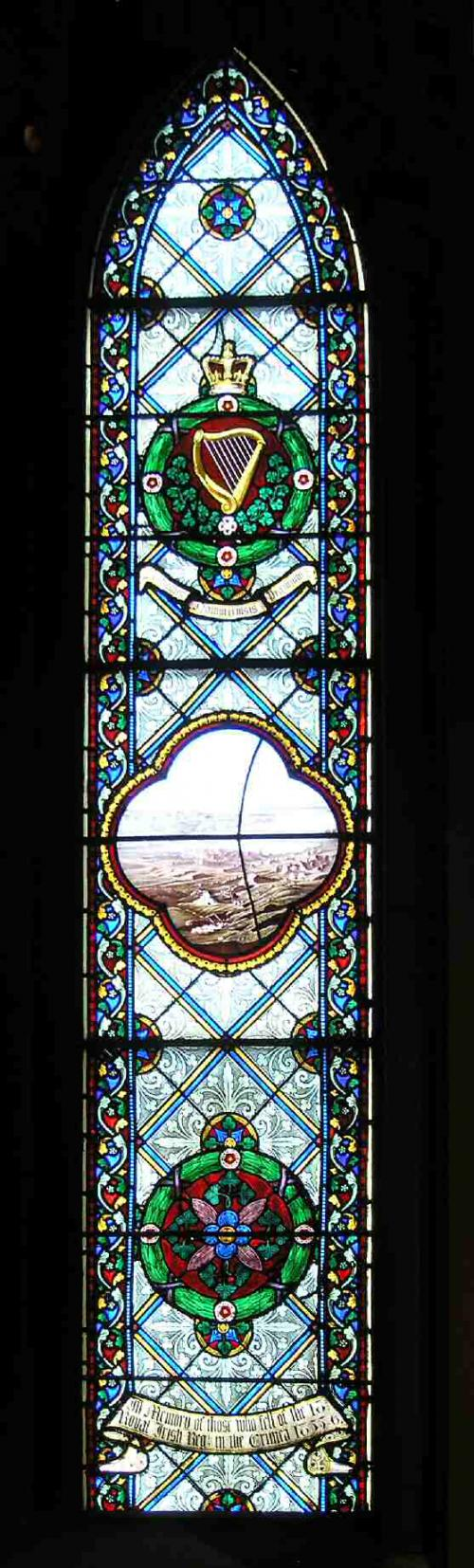 Royal Irish Regiment Crimea window