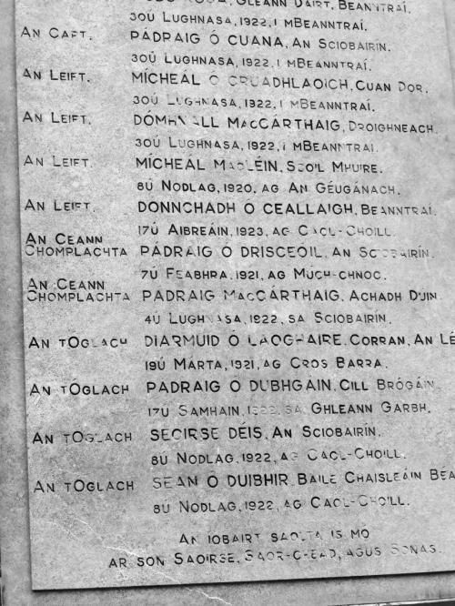 Bantry I.R.A. Memorial