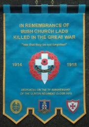 Irish Church Lads Brigade Memorial Banner