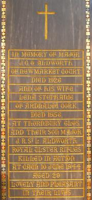 J. R. St.L. Aldworth Memorial