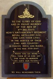 8th Belfast Heavy A.A. Regt. Memorial