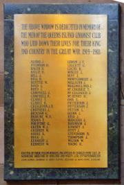 Queens Island Unionist Club Memorial