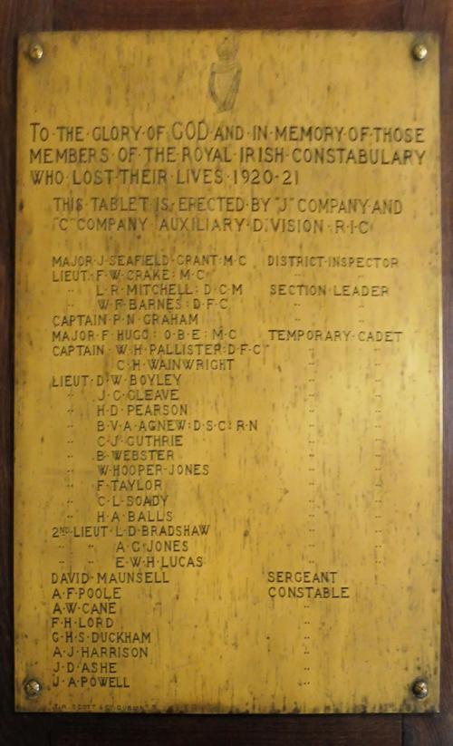 Macroom Auxiliary R.I.C. Memorial