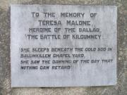 Teresa Malone Memorial, Ballinkillin