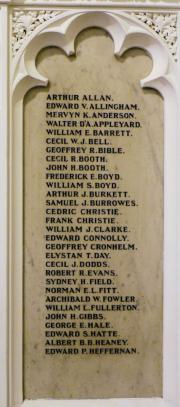Rathmines Holy Trinity Church Great War Memorial