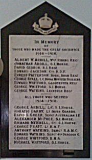 Aghancon Great War Memorial