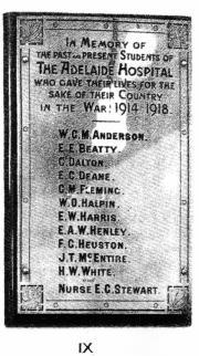 Adelaide Hospital Great War Memorial