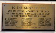 Drumcondra Church WW II Memorial