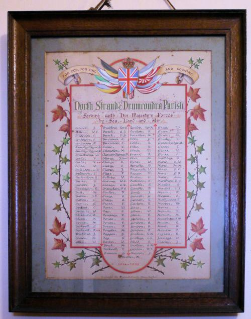 North Strand Great War Roll of Honour