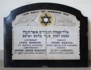Adelaide Road Synagogue Great War Memorial