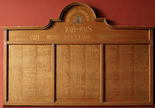 Portora Great War Roll of Honour
