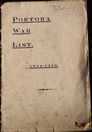 Portora War List 1914 - 1918