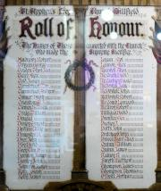 St. Stephen's Church Great War Roll of Honour