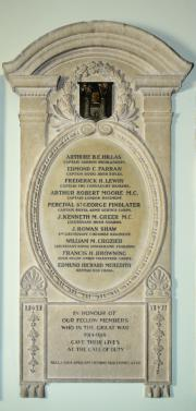 University Club Great War Memorial