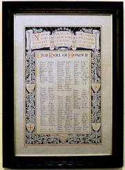 Rathmines Holy Trinity Church Great War Roll of Honour