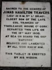 Jonas Travers Memorial
