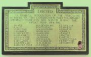 Sandymount Methodist Great War Roll of Honour