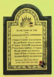Sandymount Presbyterian Great War Memorial