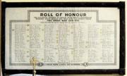 Harold's Cross WW I Roll of Honour