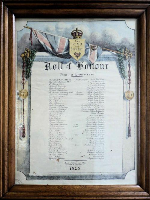 Drumkeeran WW I Roll of Honour