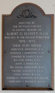 Pettigo Methodist WW II Memorial