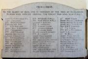 Kilbarron WW I Roll of Honour