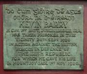 Kevin Barry Memorial