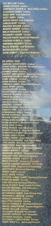 1916 Remembrance Wall