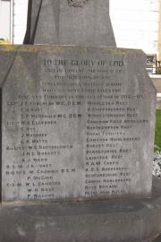 Hibernian School Great War Memorial