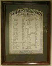 St. John's Great War Roll of Honour