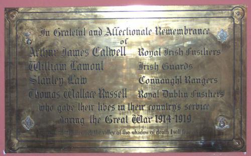Donore Presb. Church Great War Memorial