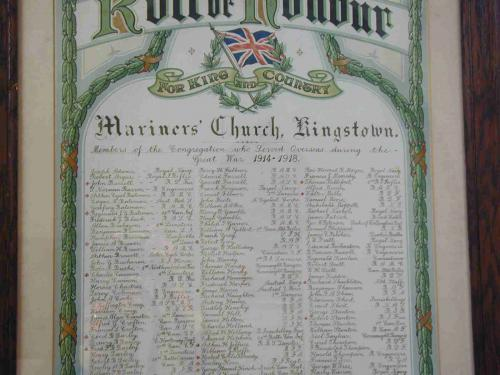 Mariners' Church Roll of Honour