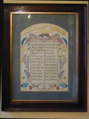 Dun Laoghaire Methodist Roll of Honour
