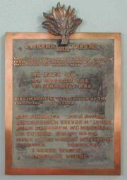 Dun Laoghaire Presbyterian 1939-1945 memorial