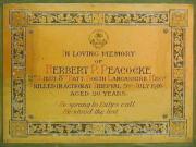 Peacocke Memorial
