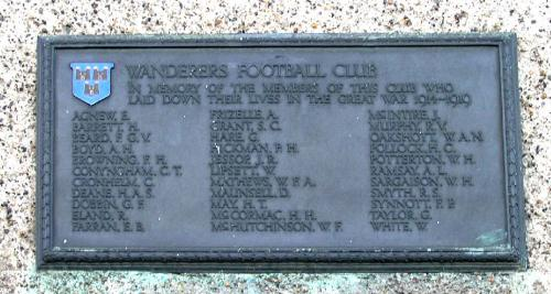 Wanderers Great War Memorial