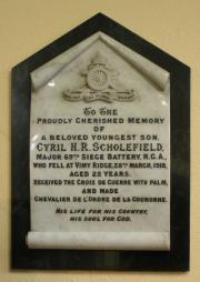 Scholefield Memorial