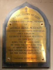 McGusty Memorial