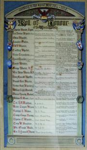 Wheeler Roll of Honour